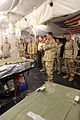 US Navy 060102-M-6018F-026 Chief of Naval Operations (CNO), Adm. Mike Mullen, visits with Sailors assigned to the Shock Trauma Platoon.jpg