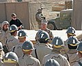 US Navy 060103-M-7404B-392 Chief of Naval Operations (CNO), Adm. Mike Mullen speaks to Sailors assigned to Naval Mobile Construction Battalion (NMCB-133) in Rawah, Iraq. NMCB-133.jpg