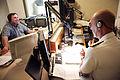 US Navy 080924-N-3271W-019 Rear Adm. John W. Goodwin is interviewed by Keven Cohen on WVOC AM 560 radio.jpg
