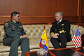 US Navy 091203-N-8273J-225 Chief of Naval Operations (CNO) Adm. Gary Roughead, right, meets with Gen. Freddy Padilla.jpg