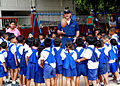US Navy 100216-N-6692A-045 Ens. Joshua Priebe plays with school children at Bann Yai Ra Children Development Center during a community service project.jpg