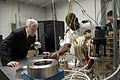 US Navy 110829-N-ZZ999-023 Secretary of the Navy (SECNAV) Ray Mabus tours a biofuels testing facility at the Naval Postgraduate School.jpg