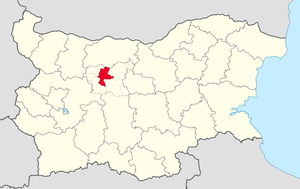Ugarchin Municipality - Image: Ugarchini Municipality Within Bulgarial