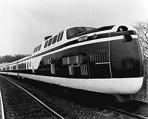 UAC TurboTrain - Turbo in DOT paint prior to Amtrak's inception, 1971