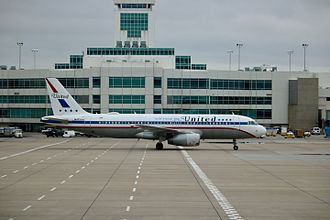 """United Airlines - United """"Friend Ship"""" A320-200 taxiing at Denver International Airport"""