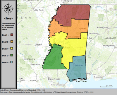 United States Congressional Districts in Mississippi, 1973 - 1982.tif