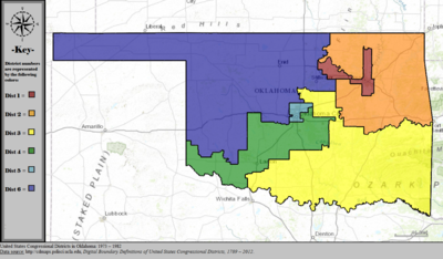 Oklahomas Congressional Districts Wikipedia - Us State Legislature Map