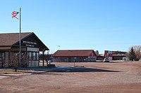 United States Post Office, Rozet Bar, Rozet Elementary School in Rozet, Wyoming.jpg