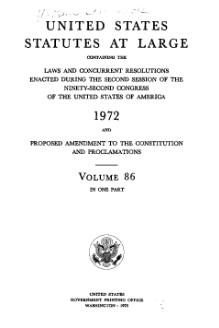 United States Statutes at Large Volume 86.djvu