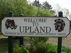 Upland, Indiana welcome sign.JPG