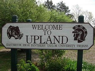Upland, Indiana - Image: Upland, Indiana welcome sign