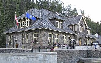 Banff Upper Hot Springs - Entrance of building.