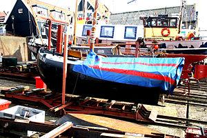 Urker haven- UK 53 op de werf.JPG