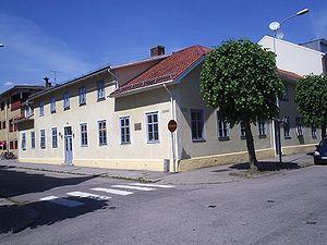 Birger Sjöberg - Image: Vänersborg, författaren Birger Sjöbergs födelsehem (Kronogatan Edsgatan), den 5 juli 2006
