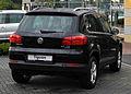 VW Tiguan Sport & Style 2.0 TDI 4MOTION BlueMotion Technology (Facelift) – Heckansicht, 24. Juni 2011, Velbert.jpg