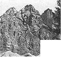 V Prisojniku - prvenstveno čez sev. steno Male Goličice, prečenje velike Goličice 1937.jpg