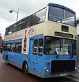 Vale Travel bus (9975 VT) 1984 Volvo Ailsa B55 Alexander RV, Wrexham bus station, 30 July 2009.jpg