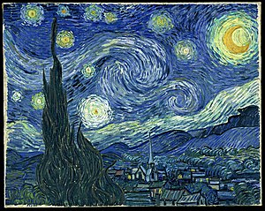 The Starry Night Oil on canvas 73 × 92 cm, 28¾...