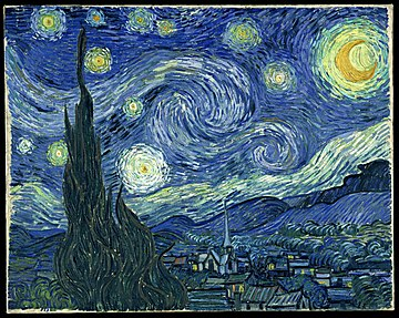 English: van Gogh's De sterrennacht (The Starry night). This Commons file is considered one of the best in the project and was a 2009 picture of the year contestant.