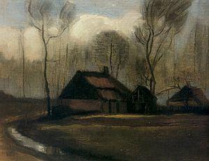 Museum of John Paul II Collection - Farm in Hoogeveen (1883), Vincent van Gogh