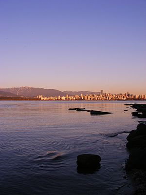 Jericho Beach - Downtown Vancouver, seen from Jericho Beach