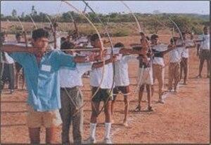 Vanavasi Kalyan Ashram - Archery competition conducted by Vanavasi Kalyan Ashram for tribal brothers
