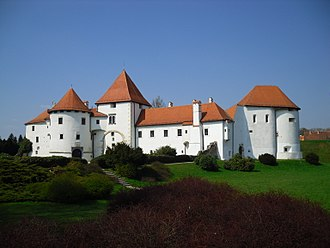 Varazdin, capital of Croatia between 1767 and 1776, is the seat of Varazdin county; Pictured: Old Town fortress, one of 15 Croatia's sites inscribed on the UNESCO World Heritage tentative list Varazdin - panoramio.jpg
