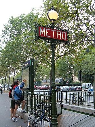 Varenne (Paris Métro) - Image: Varenne Metro sign