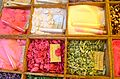 Varieties of sugar in a public market, Nice, France.jpg