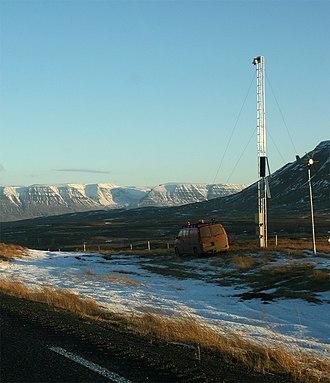 Route 1 (Iceland) - Image: Vatnsskarð weather station