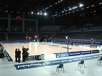 Spark Arena - The Arena in a netball setup.