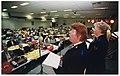 Viering 110-jarig bestaan van het Leger des Heils in de aula van de HTS aan de Veldzigtlaan. NL-HlmNHA 54037123.JPG