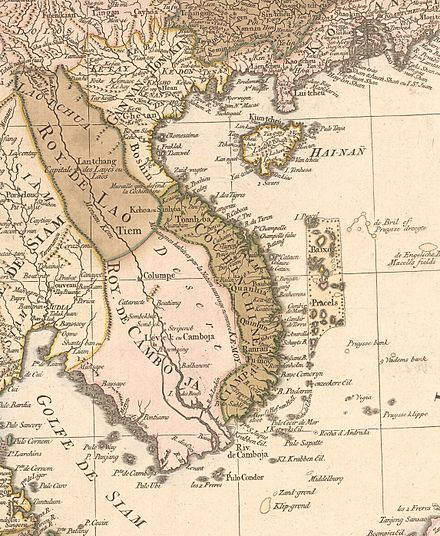 A map of Indochina in 1760 Vietnam 1760.jpg