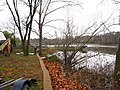 View West along Rancocas Creek from south shoreline south of Bridge St., Rancocas, NJ November 26, 2009 - panoramio.jpg