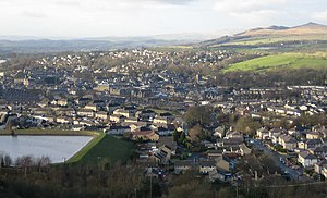 Skipton - Image: View from Skipton moor