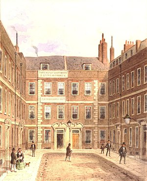 Bartlett's Buildings - Image: View of Bartlett's Buildings in Holborn by Thomas Hosmer Shepherd