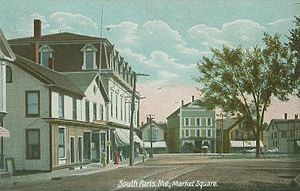South Paris, Maine - Market Square in 1907