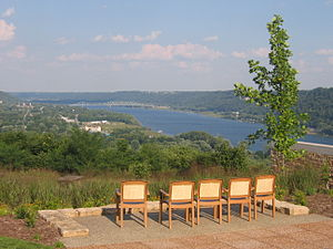 Clifty Falls State Park - Image: View of the Ohio River from Clifty Inn, Madison, Indiana