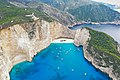 Viewpoint Shipwreck Cove Zakynthos Greece aerial (44653641660).jpg