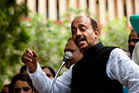 Vijay Goel at a rally