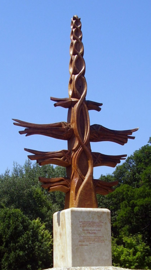 Religion in Hungary - A világfa (world tree) erected in Gödöllő, Pest, Budapest metropolis.