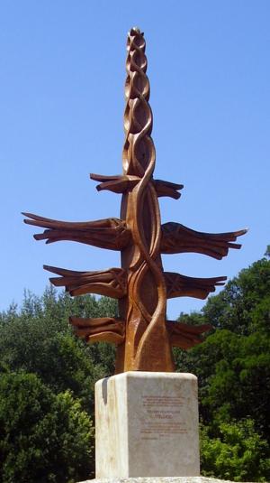 Neopaganism in Hungary - A világfa (world tree) erected in Gödöllő, Pest, Budapest metropolis.