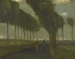 Country Lane with Two Figures