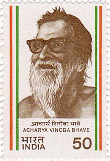 Vinoba Bhave Indian advocate of nonviolence and human rights