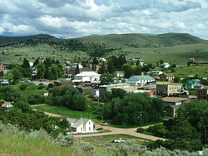 Virginia City, Montana - Virginia City from a nearby hillside