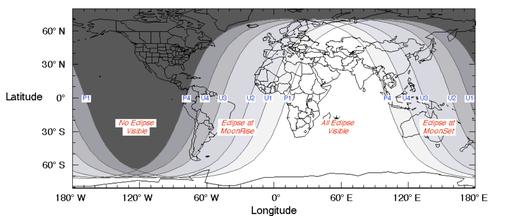 Visibility Lunar Eclipse 2018-07-27