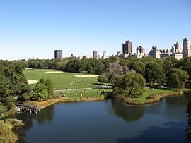 Vista of Great Lawn from Belvedere Castle