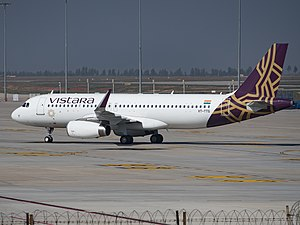 Vistara - Vistara VT-TTG at Bangalore, Dec 2015