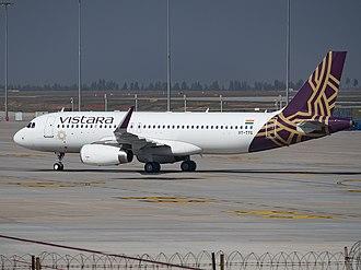 Vistara - Vistara Airbus A320 at Bangalore, December 2015