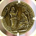 Vittor gambello detto camelio, medaglia di domenico grimani con la teologia e la filosofia 02.jpg